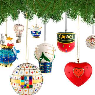 Boules décoratives Faberjori Alessi Magnifiques boules en porcelaine décorées à la main.