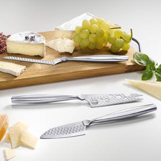 Couteaux à fromage Boska Monaco+, lot de 3 pièces 3 formes parfaites, pour fromages à pâte dure, pâte molle et fromage à trancher.