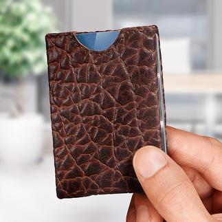 Porte-monnaie « Wallet » En cuir de bison. Ingénieux porte-cartes à quatre compartiments.