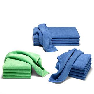 Chiffons en microfibre extrafine, lot de 5 Des chiffons, serviettes et torchons parfaits !