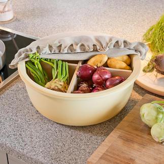 Bol de conservation en céramique CeraNatur® A l'abri de l'air et parfaitement aérées, pommes de terre, ail, pommes ... sont parfaitement stockés.