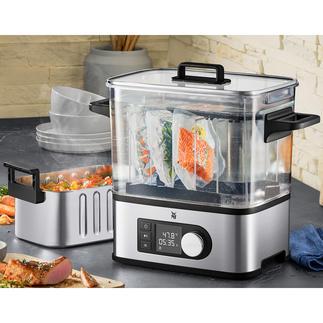 Cuiseur sous vide Pro WMF Le cuiseur sous vide affichant la précision de coûteux appareils gastronomiques.