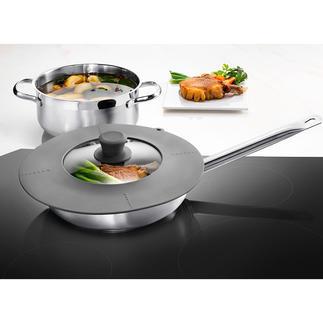 Couvercle universel 7 en 1 S'adapte à toutes les casseroles et poêles de 16 à 28 cm de diamètre.