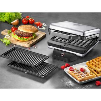 WMF Lono Snack Master Un appareil polyvalent, pour préparer de délicieux sandwiches, gaufres, pancakes, donuts ou muffins.