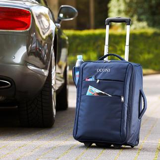Valise trolley pliable OCONI Spacieux en voyage, peu encombrant dans l'armoire et ultra léger.