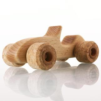 Silent Roller Sporty Le bolide en bois de hêtre avec de véritables roues en liège.