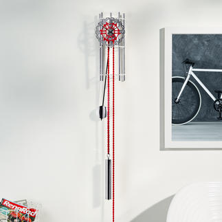 Pendule murale design « Vélo » La beauté de la mécanique pure.