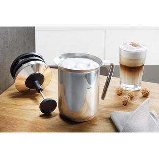 Mousseur à lait double tamis Gefu® Pour une mousse de lait parfaite en moins de 60 secondes.