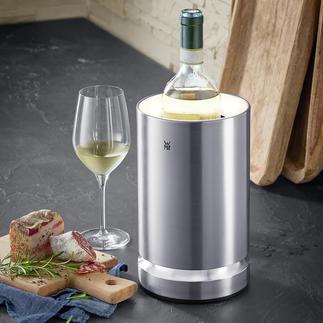Refroidisseur de bouteille pour vin et champagne avec éclairage LED Les pavés de glace maintiennent le précieux breuvage à température de dégustation jusqu'à 4 heures.