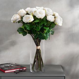 Bouquet de roses Avalanche Une beauté impérissable. D'un réalisme impressionnant - comme fraîchement liées par un fleuriste.