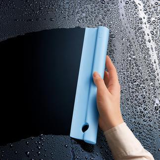 Raclette de douche en silicone Doux au toucher, flexible et sans bords durs.