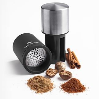 Moulin à muscade Microplane® Moud les noix dures jusqu'à obtenir une poussière ultra fine et jusqu'à la dernière particule.