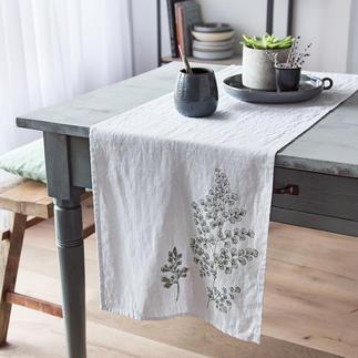 Chemin de table en lin ou Sets de table en lin «Botanique» Une magnifique qualité authentique. Chaque pièce est unique.