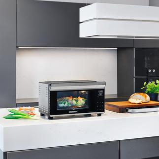 Four bistrot avec tournebroche Parfait pour cuire, griller, rôtir, toaster, décongeler, réchauffer.
