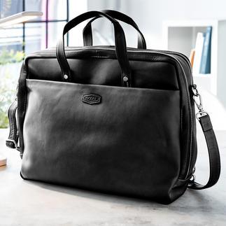 Sacoche polyvalente Oconi Votre sacoche d'affaires la plus polyvalente, en véritable cuir vachette haut de gamme, par Oconi.