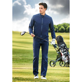 Veste ou Pantalon de golf imperméable poids plume KJUS Extensible, imperméable, respirante et escamotable dans une petite pochette.