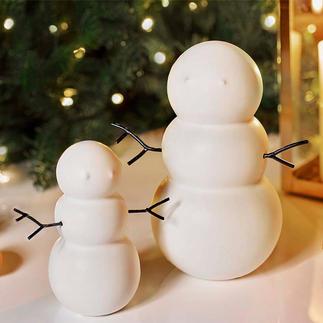 Bonhommes de neige, lot de 2 pièces Blanc, discret, élégant : le bonhomme de neige en céramique de fabrication suédoise.