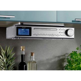 Station musicale de cuisine Elite Line Radio FM et numérique, lecteur CD et musique MP3. Avec récepteur Bluetooth, lecteur USB et jack.