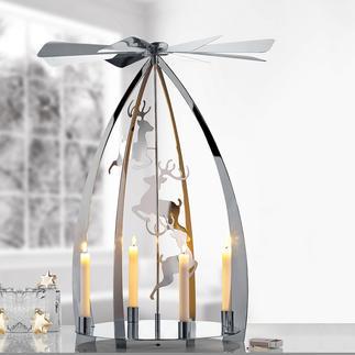 Pyramide de Noël moderne Une décoration classique des fêtes de Noël, dans une version moderne ultra brillante.