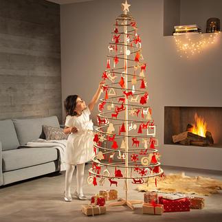 Sapin spirale Trois manipulations, une minute, aucun montage : et votre sapin de Noël est déjà dressé !