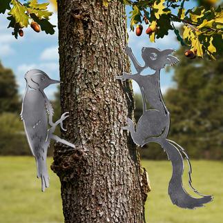 Contour motifs d'animaux Motifs réalistes d'animaux en acier. Véritable accroche-regard dans votre jardin.