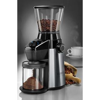 Moulin à café Barista Flavour de Caso Complément idéal des machines à expresso manuelles à tamis, ou pour un café filtre fraichement préparé.