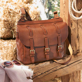 Sacoche La sacoche en cuir vachette fin. Idéale pour le voyage, le bureau, la ville. De Chiarugi/Firenze, exclusivement chez Pro-Idée.