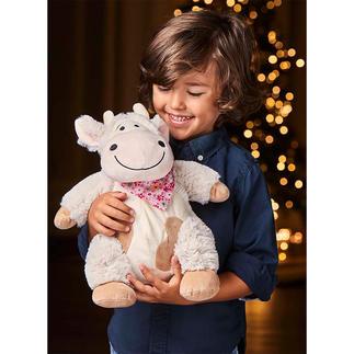Doudou vache au pin cembro « Emma », le doudou vache en pin cembro qui veille à ce que vos enfants aient un sommeil paisible et profond.