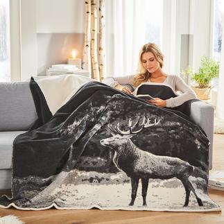 Couverture jacquard photoréaliste Superbe tissu jacquard bien plus noble qu'un simple imprimé. À un prix étonnant !