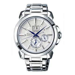Montre homme Premier Kinetic Perpetual SNP159P1 de Seiko Fonction Auto Relay à économie d'énergie : plus besoin de tourne-montre, de remonter manuellement ni de re-régler la montre.