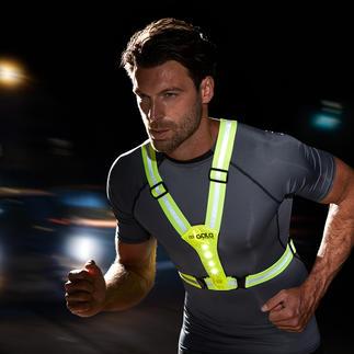 Harnais de sécurité LED Idéal pour faire de la bicyclette, du jogging, de la randonnée tout en restant visible dans l'obscurité.