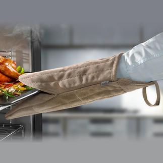 Gant de cuisine/barbecue en daim Beaucoup plus maniable, sûr : le gant de cuisine de 38 cm en daim doux.
