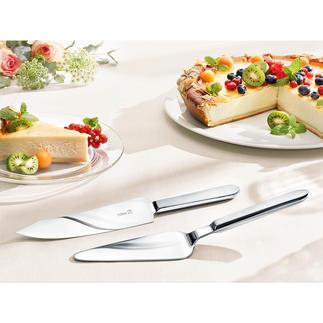 Couverts à tarte Pour couper et servir tartes et gâteaux en tout genre, proprement et élégamment.