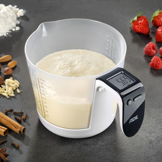 Verre doseur/Balance Tout ce dont vous avez besoin pour peser vos ingrédients au gramme près est cet ingénieux verre doseur/balance.