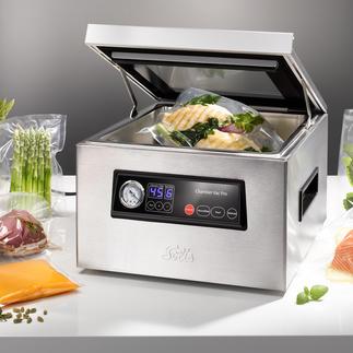 Appareil de mise sous vide à cloche Solis Idéal pour les aliments liquides et pour la cuisson sous vide.