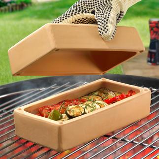 Brique BBQ RÖMERTOPF® Objets culinaires aux mille recettes, pour une cuisson savoureuse, pauvre en graisse et en calories, pour mijoter, cuire à la vapeur …