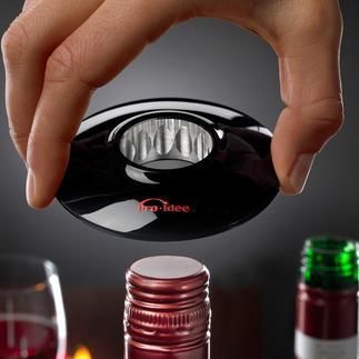 Wine-Donut® Enfin ! Vous pourrez ouvrir avec élégance une bouteille de vin à bouchon à vis.
