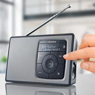 TechniSat DIGITRADIO 2 La radio numérique portable de TechniSat : avec batterie et streaming Bluetooth. Qualité allemande.