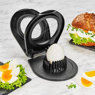 Coupe-œufs duo Gefu® Un seul objet pour couper vos œufs en tranches fines ou en quartiers.