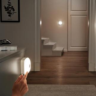 Lampe Smart-Lights, lot de 3 pièces (1 lampe de base, 2 lampes additionnelles) Lampe LED sans fil, pour apporter de la lumière là où vous en avez besoin, dans toute la maison.