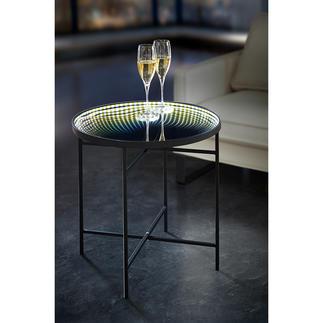 Table réfléchissante LED Un océan de lumière féérique : la table à couronne LED lumineuse et miroir infini.
