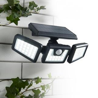 Lampe de sécurité solaire 1 000 Lumen Projecteur solaire aux multiples utilisations et pour davantage de sécurité.