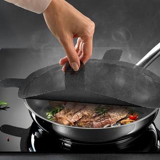 Protection anti-projections NoStik®, lot de 2 pièces Plus de projections de graisse sur les vêtements et la cuisinière.