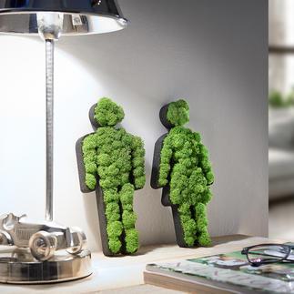 Pictogrammes de mousse Femme/Homme Un très bel objet déco pour la maison ou à offrir. 100 % naturel, 0 % d'entretien.