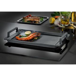 Plaque Teppanyaki Appareil polyvalent en fonte d'aluminium hautement conductible avec revêtement ultra résistant et antiadhérent.