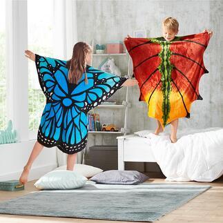 Poncho à motif Libérez le papillon ou le dragon enchanteur qui sommeille en votre enfant, tout en l'enveloppant de douceur.