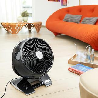 Vornado®6303DC Le ventilateur qui a conquis les États-Unis : puissant, silencieux et confortable. Avec désormais 99 (!) niveaux de vitesse, minuterie et télecommande.