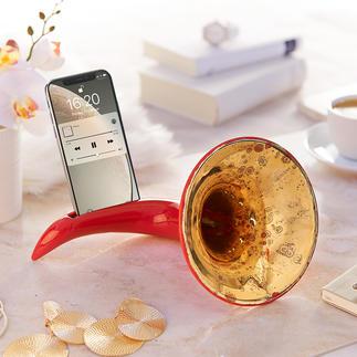 Amplificateur nostalgique pour smartphone Probablement le plus bel amplificateur pour votre smartphone. Sans électricité, ni câbles.
