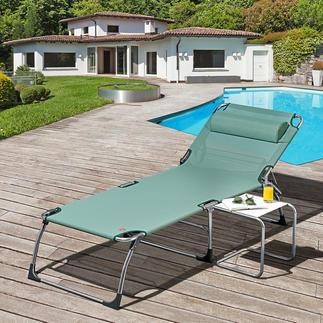 Bain de soleil trois pieds XXL Bain de soleil XXL trois pieds en aluminium, le petit plus en matière de confort.