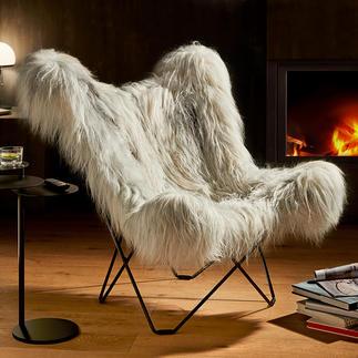 Fauteuil papillon Mariposa Jadis pionnier non conventionnel en matière de confort, aujourd'hui un classique au design élégant. L'original de Cuero/Suède.